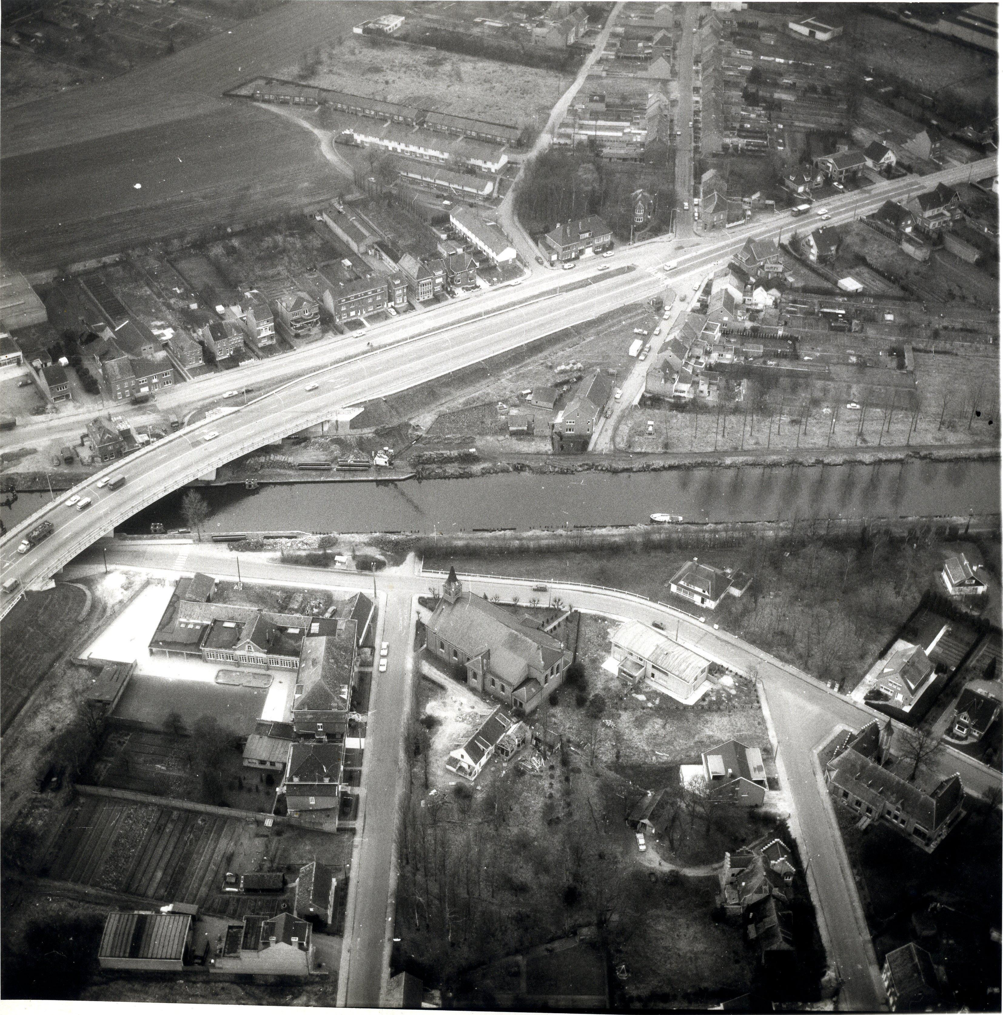 Het Battelcomplex, begin jaren 1970. © Stadsarchief Mechelen - beeldbankmechelen.be